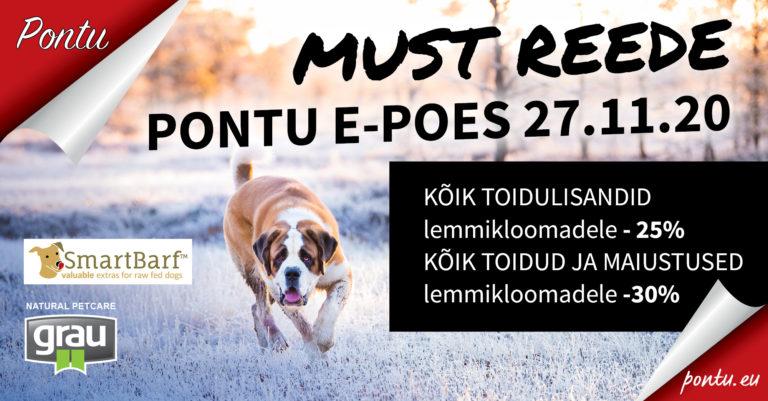 MUSTA REEDE SUUR ALLAHINDLUS 27.11.2020!!!