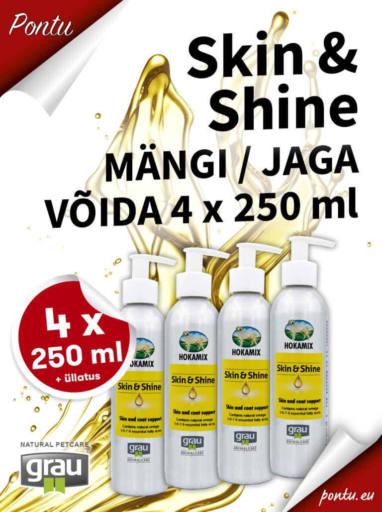 VÕIDA 4x 250ml Skin & Shine